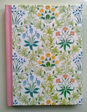 Journal bog med William Morris design
