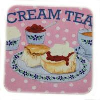 Coasters - glasbakker - med cream tea